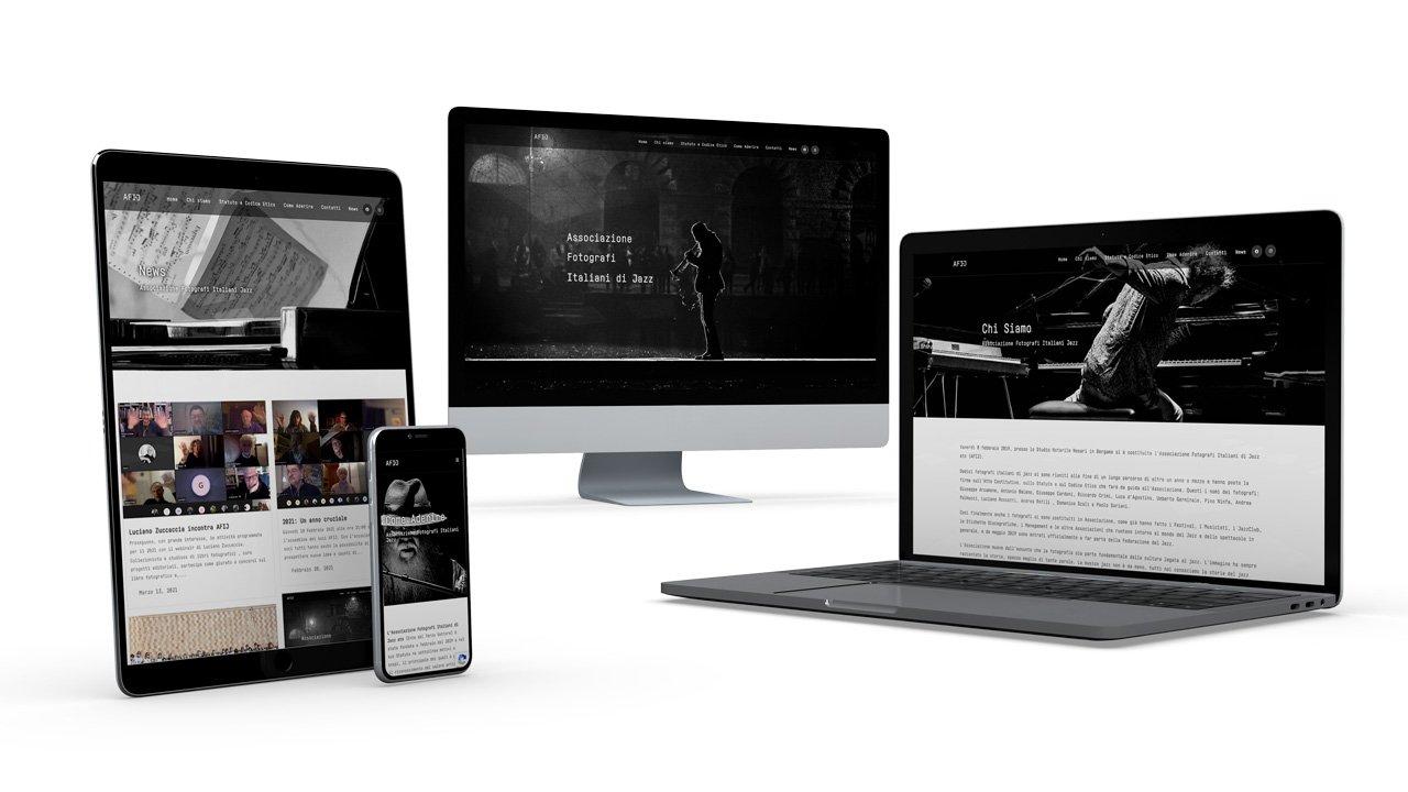 AFIJ sito web mockup